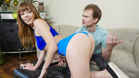 Alex Blake is curious and fucks her stepbrother