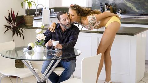 Elena Koshka has family sex with her long lost stepbrother